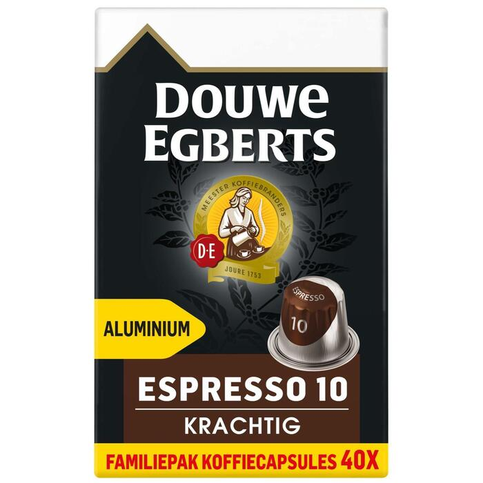 DOUWE EGBERTS KOFFIE CAPSULES ESPRESSO KRACHTIG UTZ 208G 40ST BOX (40 × 208g)