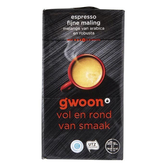 g'woon Snelfiltermaling espresso fijn (250g)