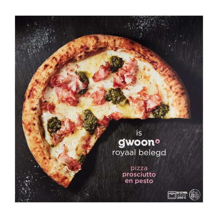 g'woon Premium pizza prosciutto (393g)