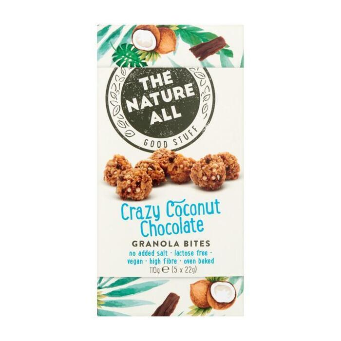 The Nature All Crazy Coconut & Chocolate Granola Bites 5 x 22 g (5 × 22g)