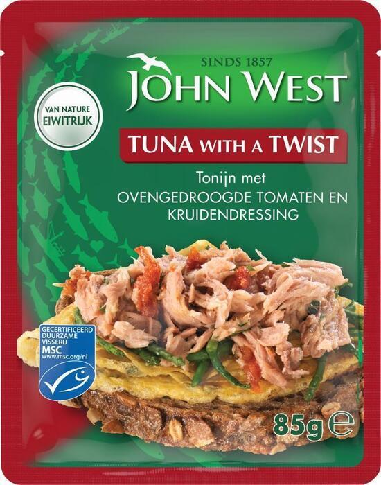 Tonijn met ovengedroogde tomaten kruidendressing (zak, 85g)