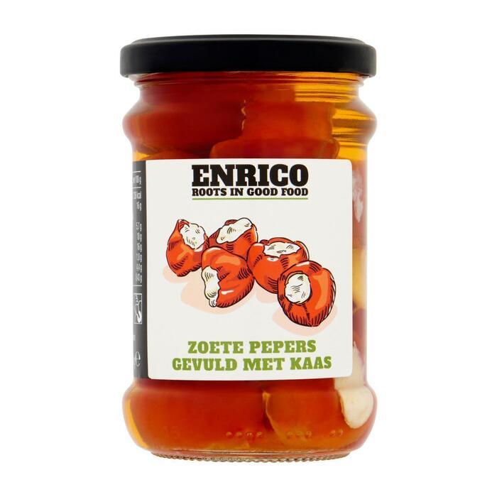 Enrico Zoete pepers gevuld met kaas (250g)