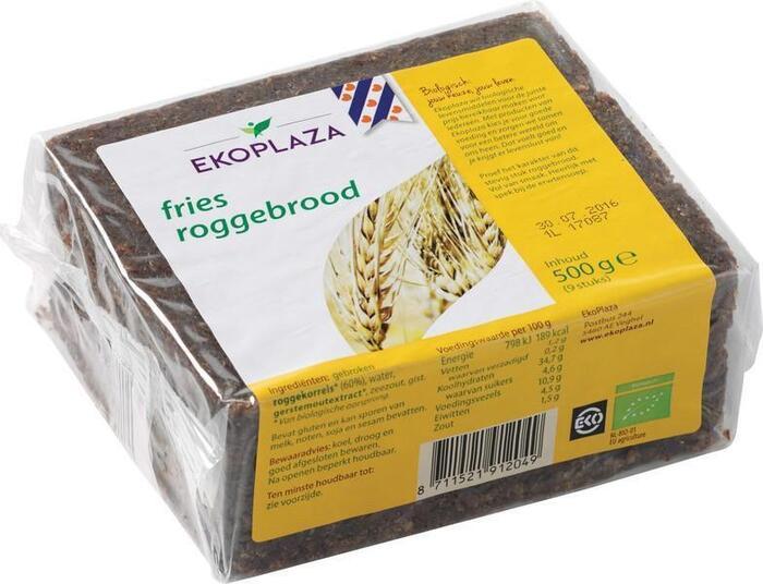Fries roggebrood (plastic, 500g)