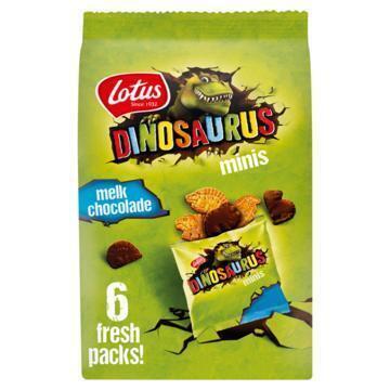 Lotus Dinosaurus Minis Melkchocolade 6 x 25g (6 × 25g)