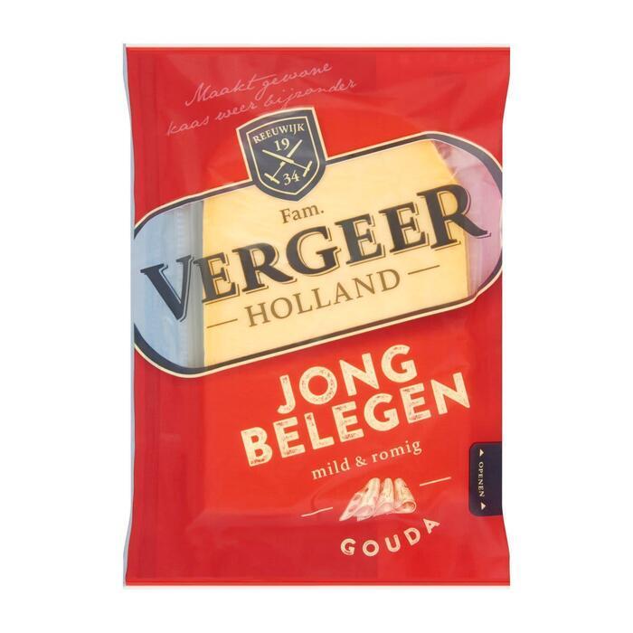 Vergeer Holland Kaas 48+ Plakken Gouda Jong belegen 200g (200g)