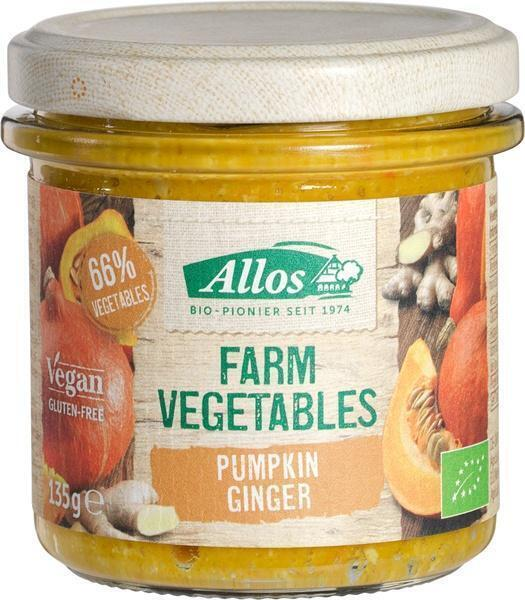 Farm Vegetables pompoen en gemberspread (135g)