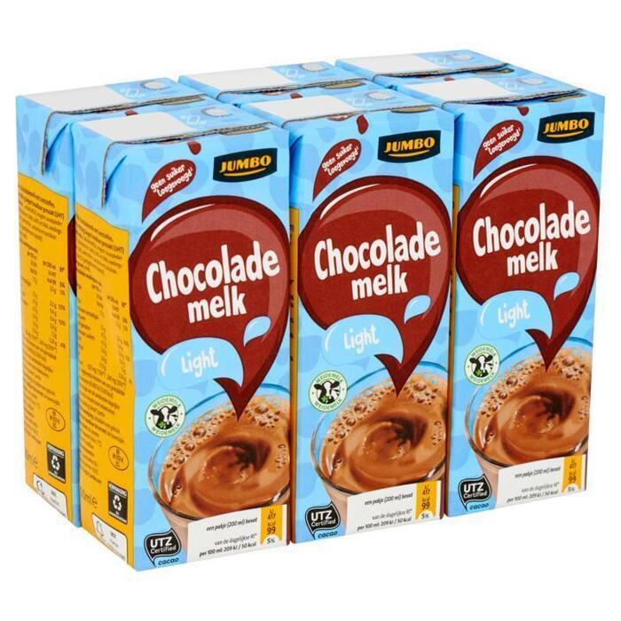 Jumbo Chocolade Melk Light 6 x 200ml (6 × 200ml)