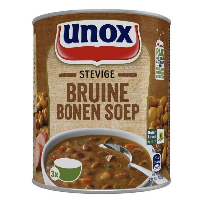 Unox Soep in Blik Stevige Bruine Bonensoep (rol, 80 × 0.8L)