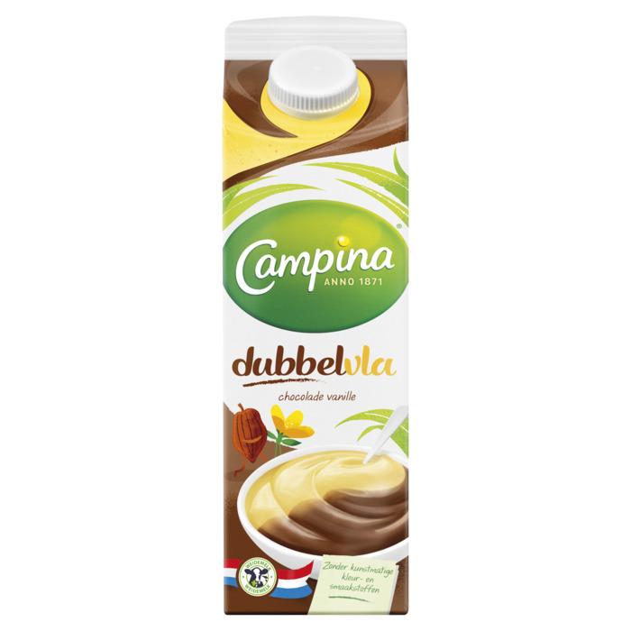 Dubbelvla chocola vanille (1L)