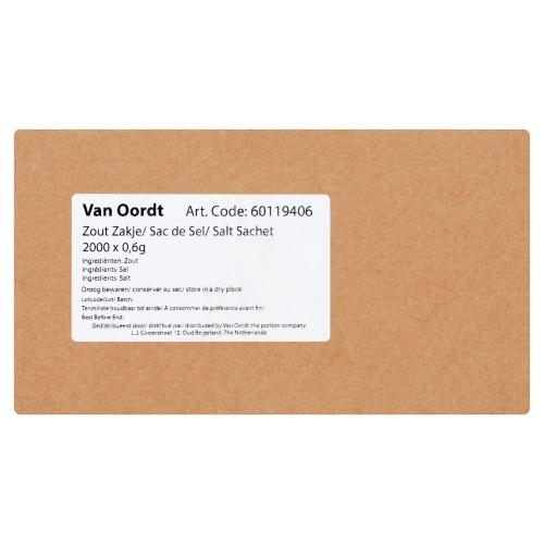 Van Oordt Zout Zakje 2000 x 0,6 g (0.6g)