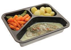 Tilapiafilet gepocheerd Hollandaisesaus wortelen met peultjes gekookte krielaardappelen (500g)