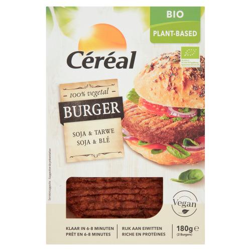 Céréal Bio Vegan Burger Soja & Tarwe 2 Stuks 180 g (180g)