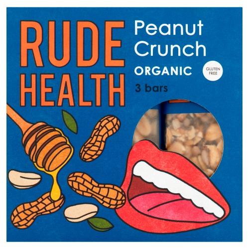 Rude Health Peanut Crunch Organic Bars 3 x 25 g (3 × 25g)