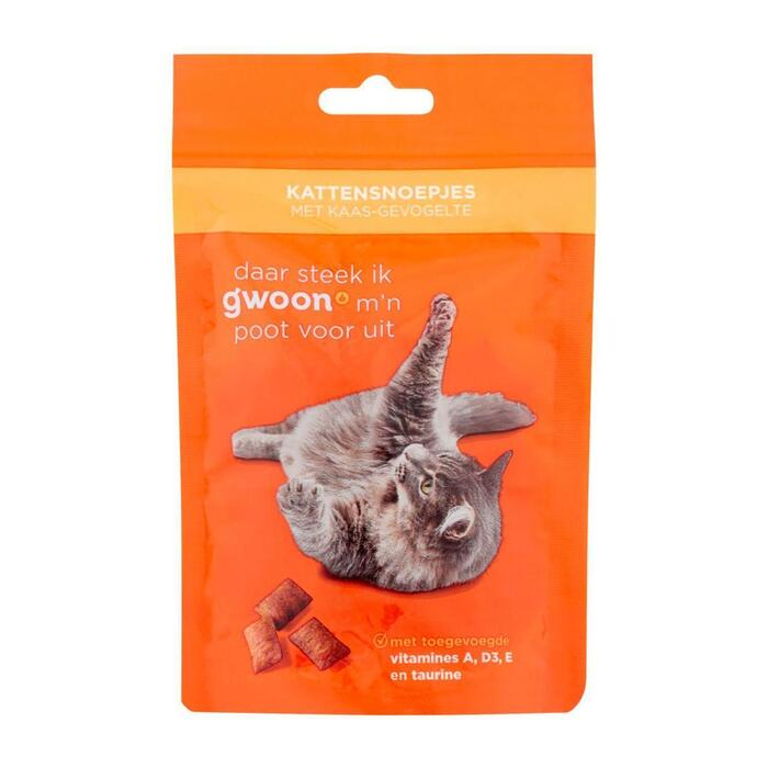 g'woon Kattensnack kaas gevogelte (60g)