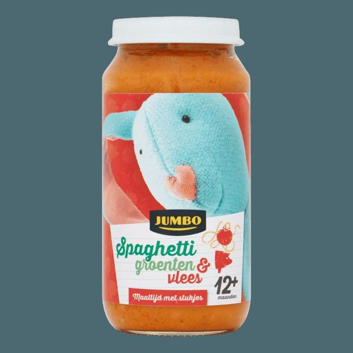 Jumbo Spaghetti Groenten & Vlees 12+ Maanden 250g (250g)