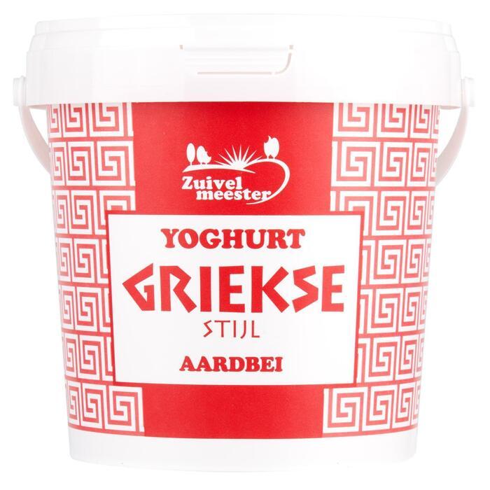 Yoghurt griekse stijl aardbei (1kg)