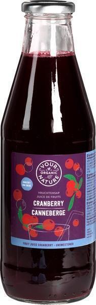 Vruchtensap Cranberry (fles, 0.75L)