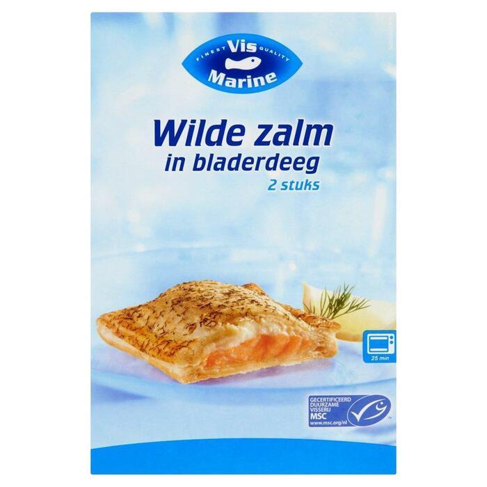 Wilde Zalm in Bladerdeeg (Doos 300g) (150g)
