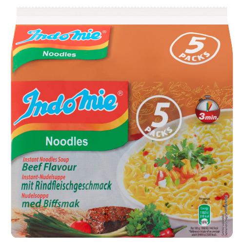 Indomie Instant Noodles Soup Beef Flavour 5 x 70 g (70g)