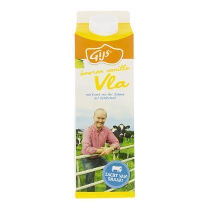 Boeren vanillevla (pak, 1L)