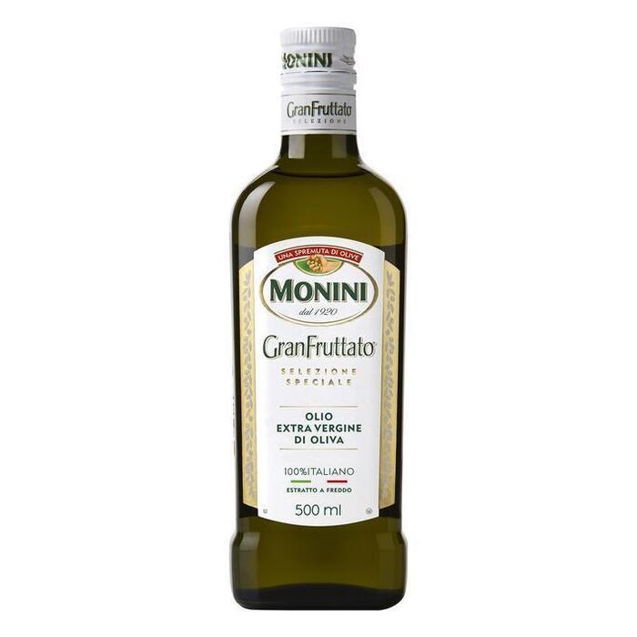 Olijfolie gran frutatto extra vierge (glazen fles, 0.5L)