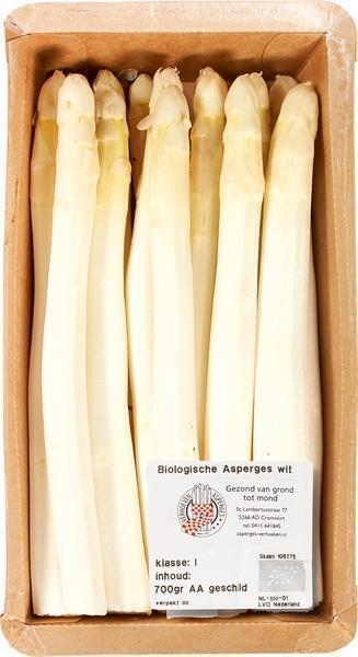 Witte asperges in bundel (250g)