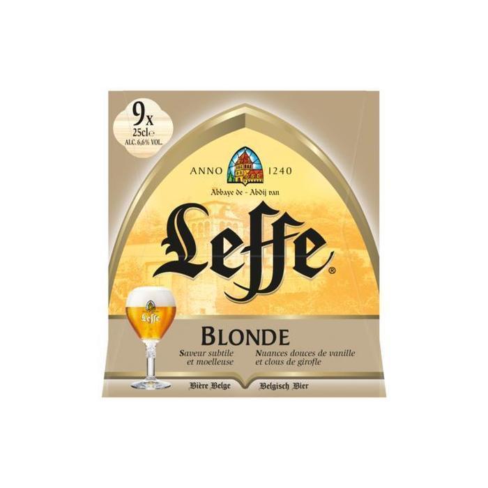 Leffe Blonde Flessen 9 x 25cl (9 × 250ml)