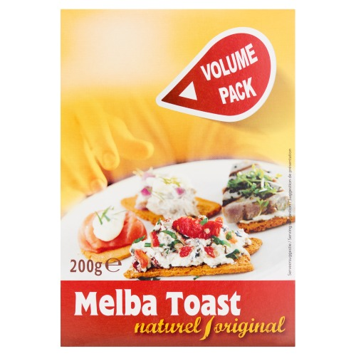 Melba Toast Naturel / Original Volume Pack 200 g (200g)