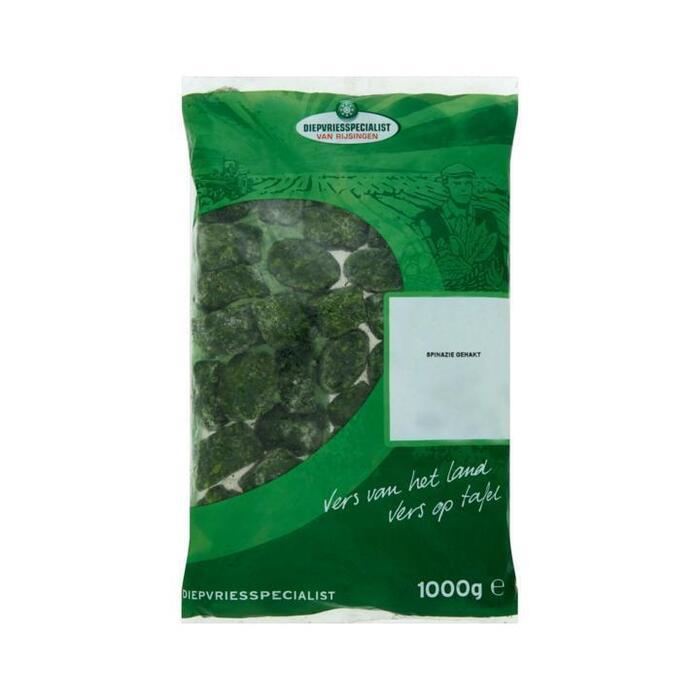 Diepvriesspecialist, Spinazie gehakt (zak 1000g) (1kg)