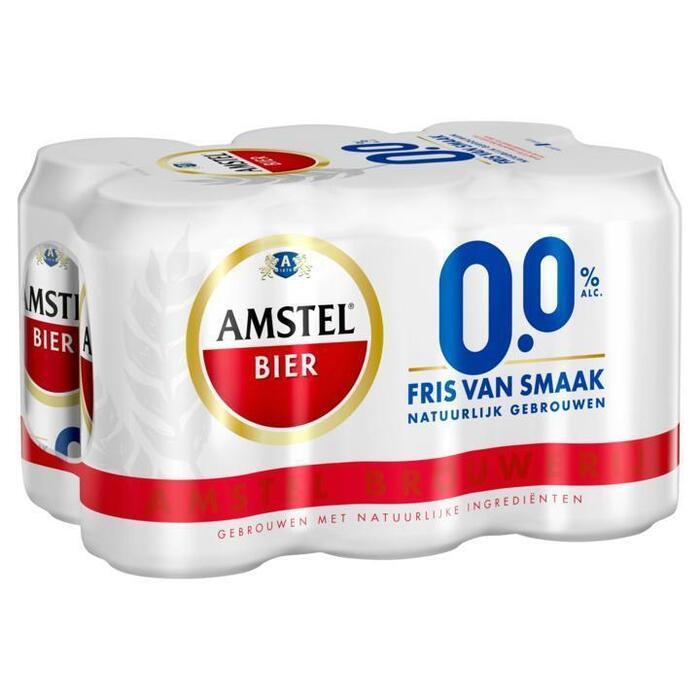 Amstel bier 0.0% (rol, 6 × 33cl)