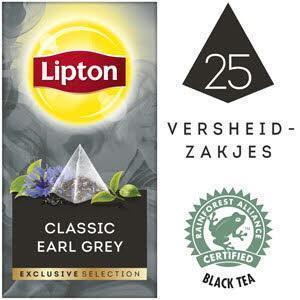 Lipton Excl Select Earl Grey 25S 6x (bak, 45 × 45g)