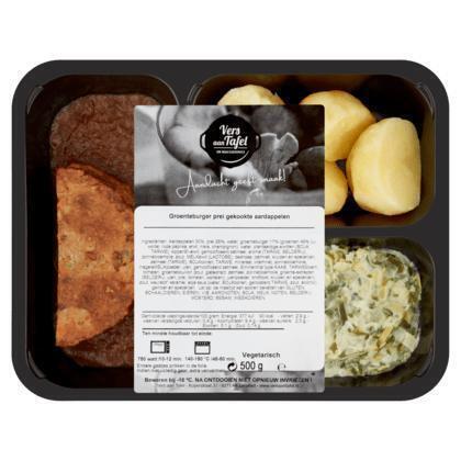 Vers Aan Tafel Groenteburger Prei Gekookte Aardappelen 500 g (500g)