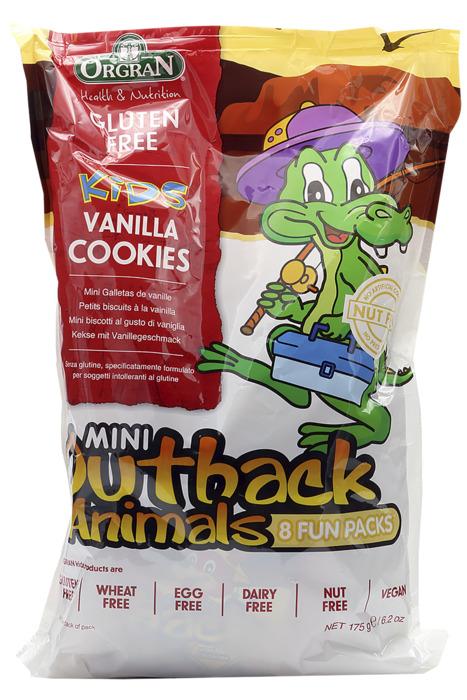 Orgran Outback Animals Vanilla Cookies Multipack 175 g zak (175g)