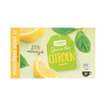 Jumbo Groene Thee Citroen Voordeel 40 Stuks 80 g (80g)