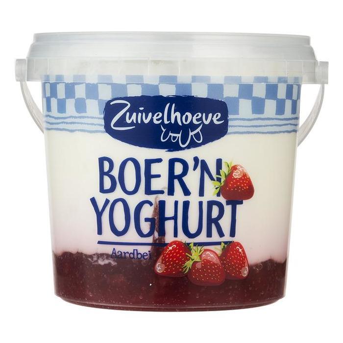 Boer'n Yoghurt aardbei (emmer, 450g)