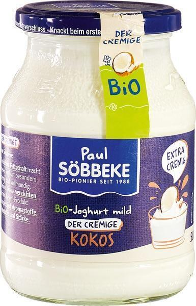 Kokos bio yoghurt mild (pot, 500g)