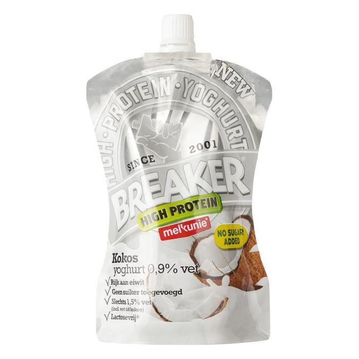 Breaker high protein kokos (knijpzak, 200g)