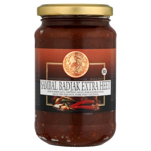 Sambal Badjak Extra Heet (pot, 375g)