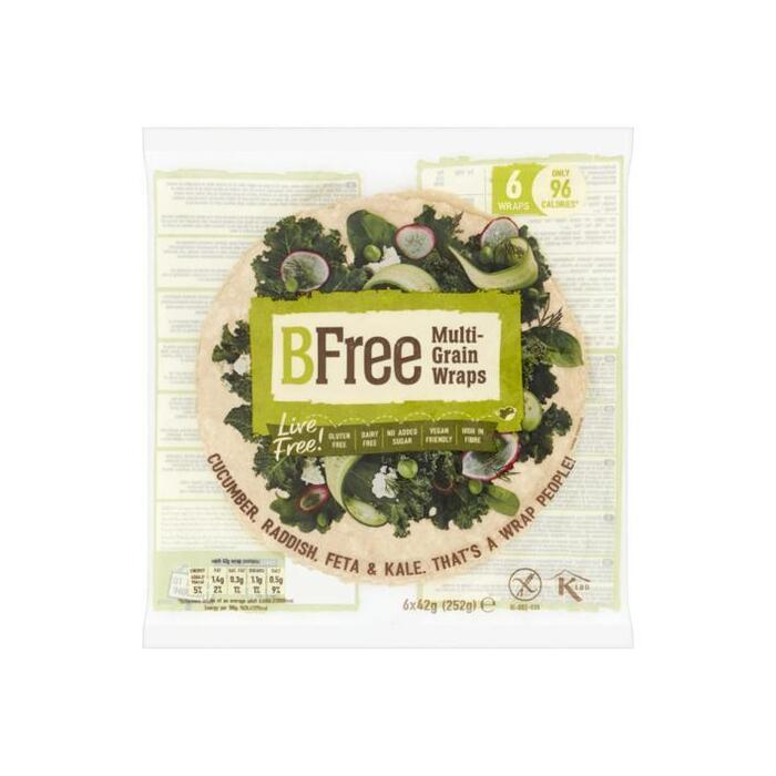 BFree Be wheat multigrain wraps gluten free (252g)