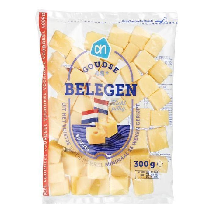 AH Blokjes belegen goudse kaas 48+ voordeel (300g)