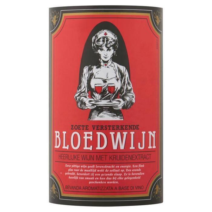 Bloedwijn Zoete Versterkende Heerlijke Wijn met Kruidenextract 75 cl (rol, 75 × 7.5ml)