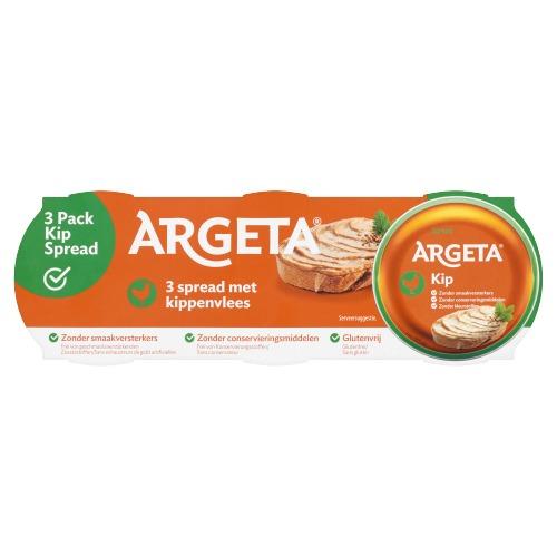 Argeta Spread met Kippenvlees 3 x 95 g (3 × 95g)