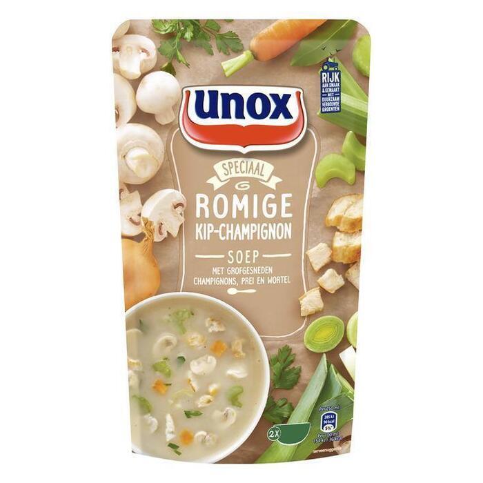 Unox Soep in zak kip champignonsoep (0.57L)