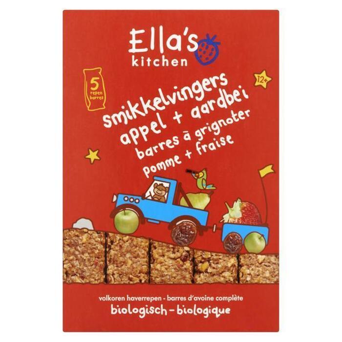 Ella's kitchen 12+ Maanden Smikkel Vingers Appel (5 × 25g)