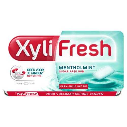 Xylifresh Mentholmint Suikervrij Kauwgom Single 12 Stuks 18 g (18g)