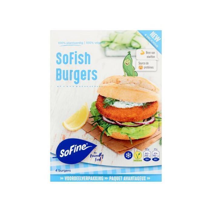 SoFine SoFish Burgers Voordeelverpakking 4 x 80 g (4 × 80g)