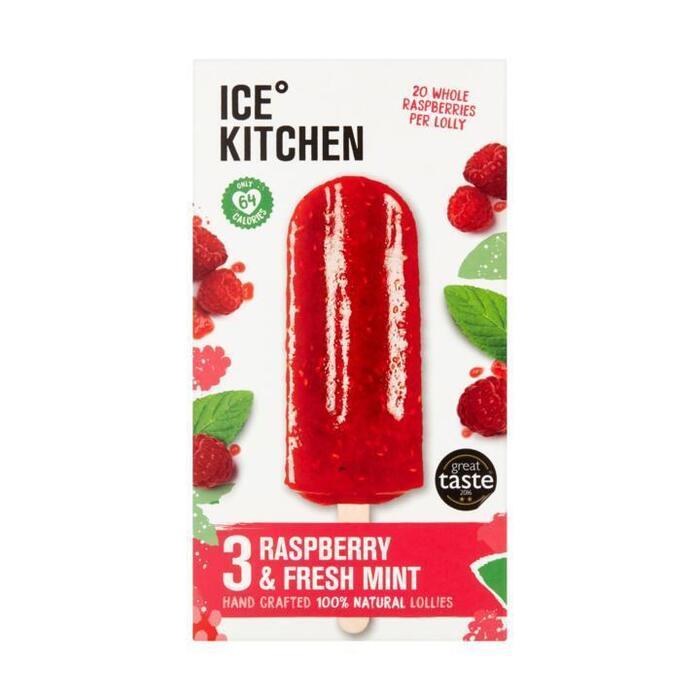 Ice Kitchen Raspberry & Fresh Mint 3 x 75 g (3 × 75g)