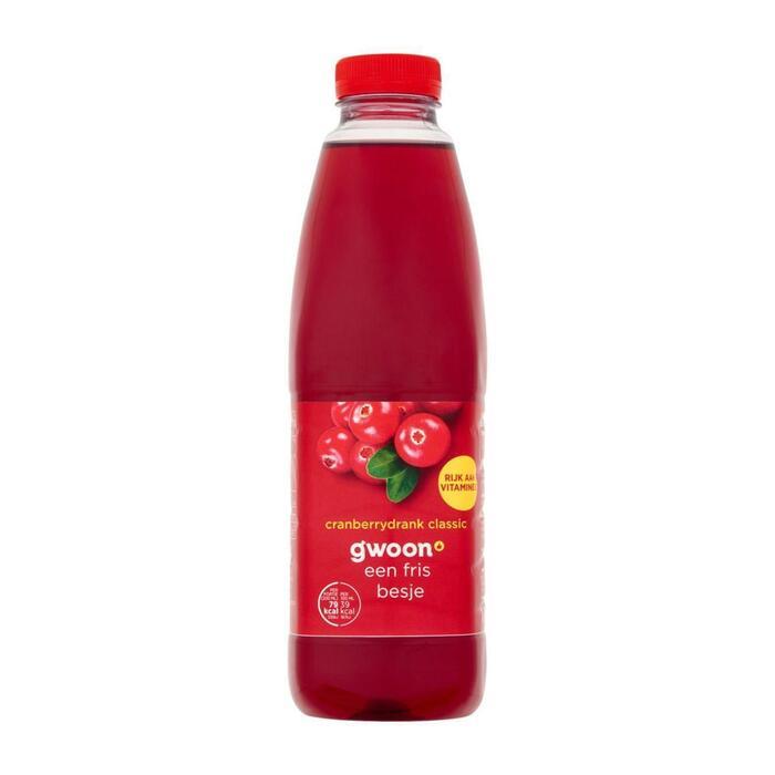 g'woon Cranberrysap classic (1L)