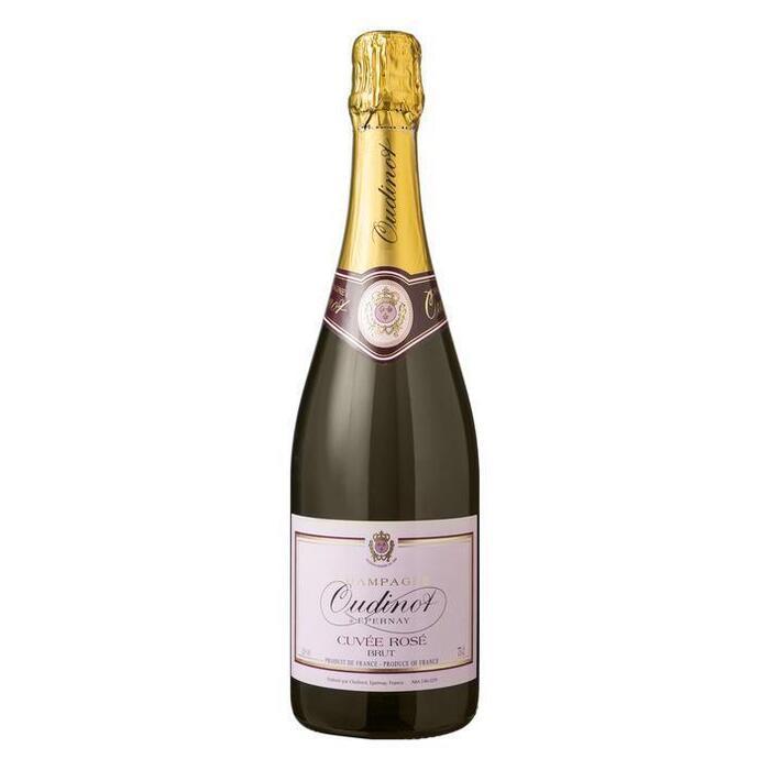 Champagne cuvée brut rosé (glas, 0.75L)