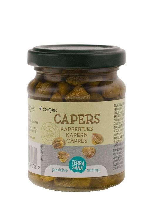 Kappertjes in extra vierge olijfolie TerraSana 120g (120g)